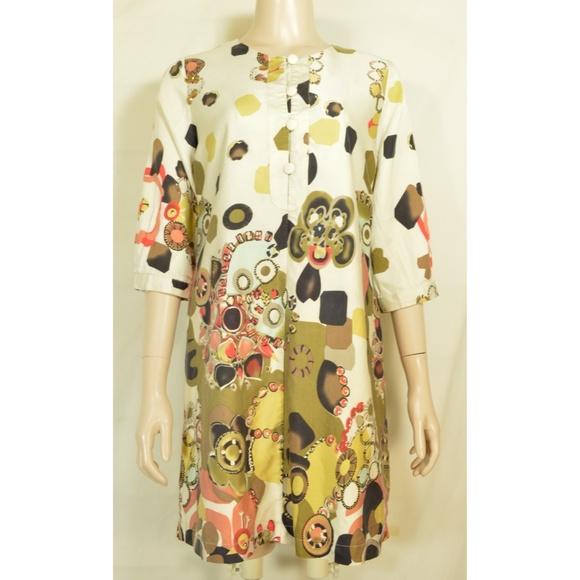 Vertigo Paris Dresses & Skirts - Vertigo Paris dress mini tunic silk cotton blend a